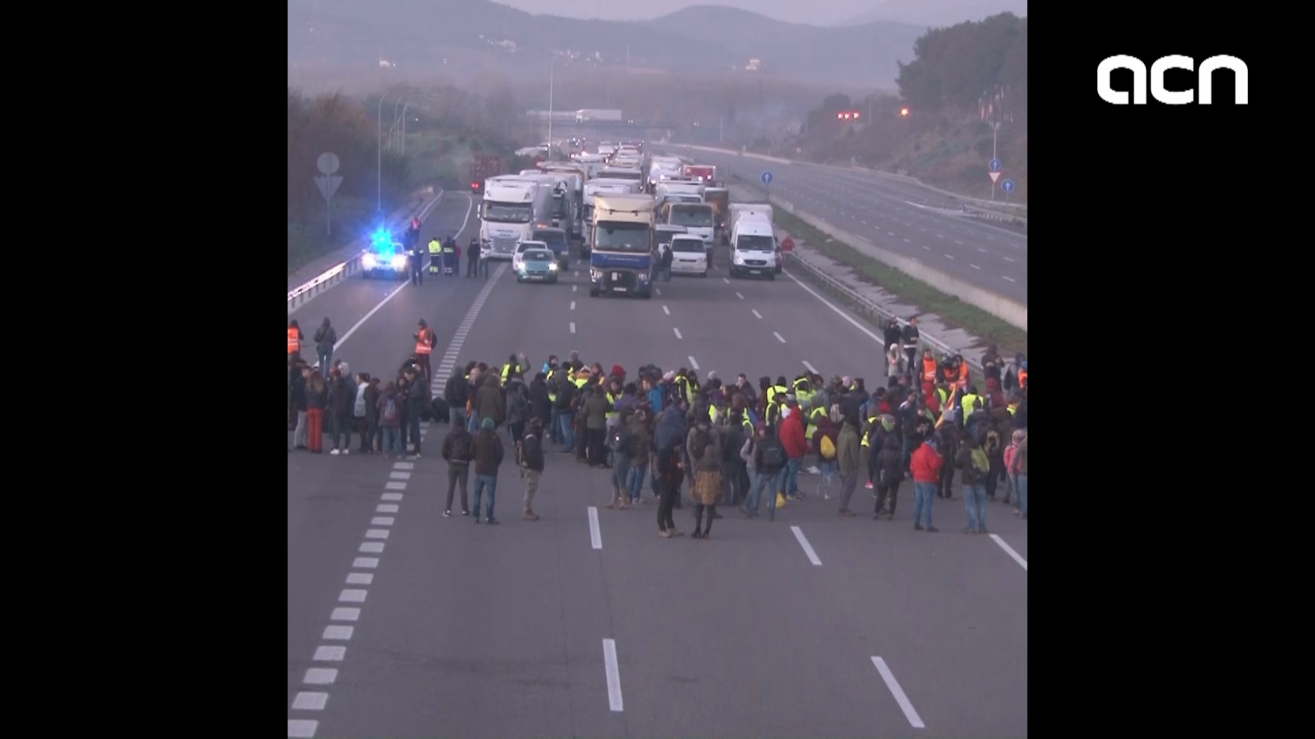 Widespread protests in Catalonia including road cuts to reject Spanish government visit