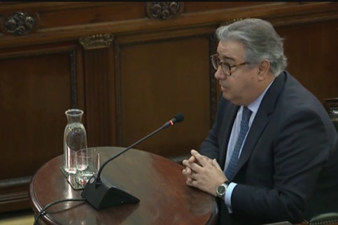 The former Spanish home affairs minister, Juan Ignacio Zoido, testifying in Spain's Supreme Court on February 28, 2019