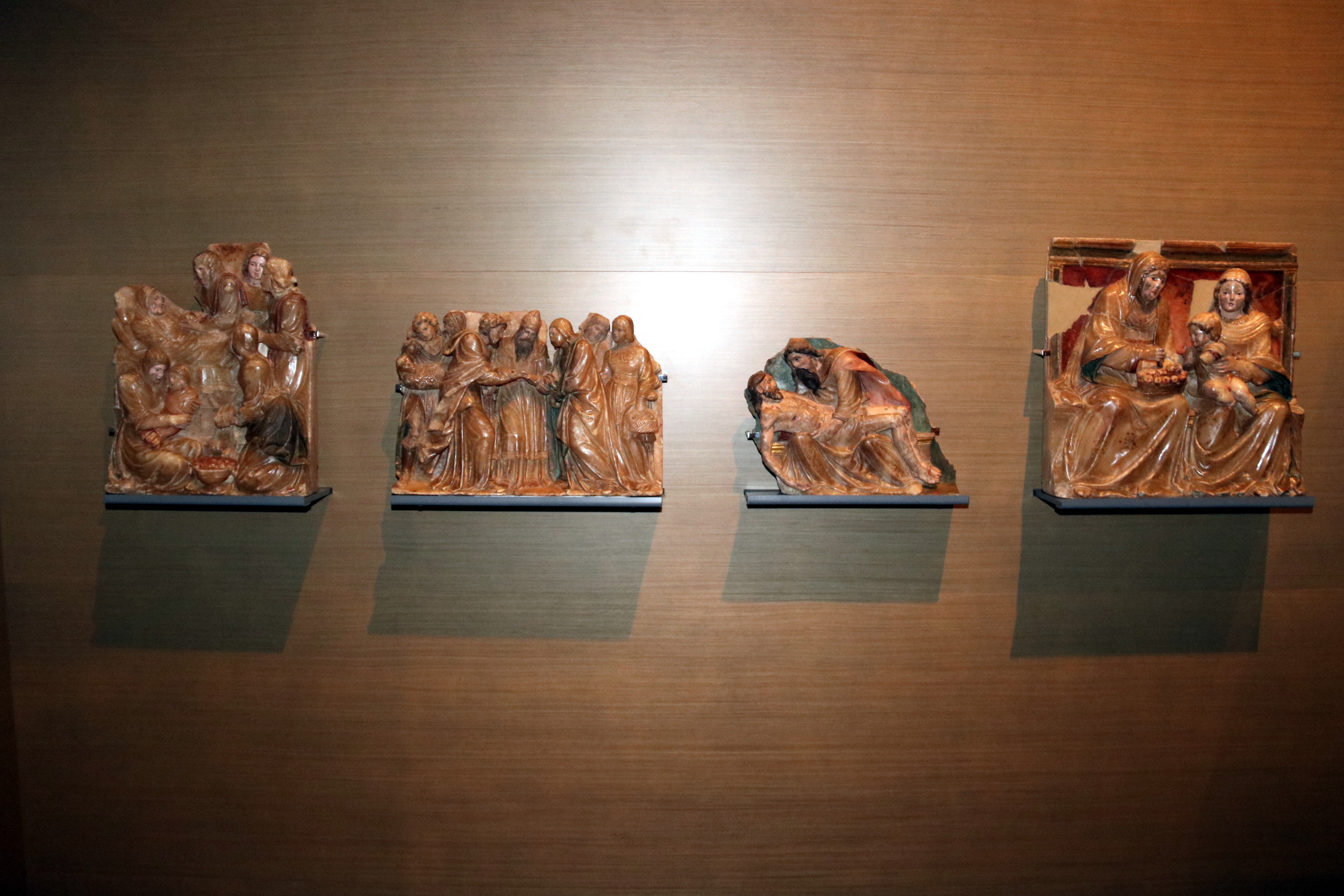 Three monks' sarcophaguses on display in the Museum of Lleida (by ACN)