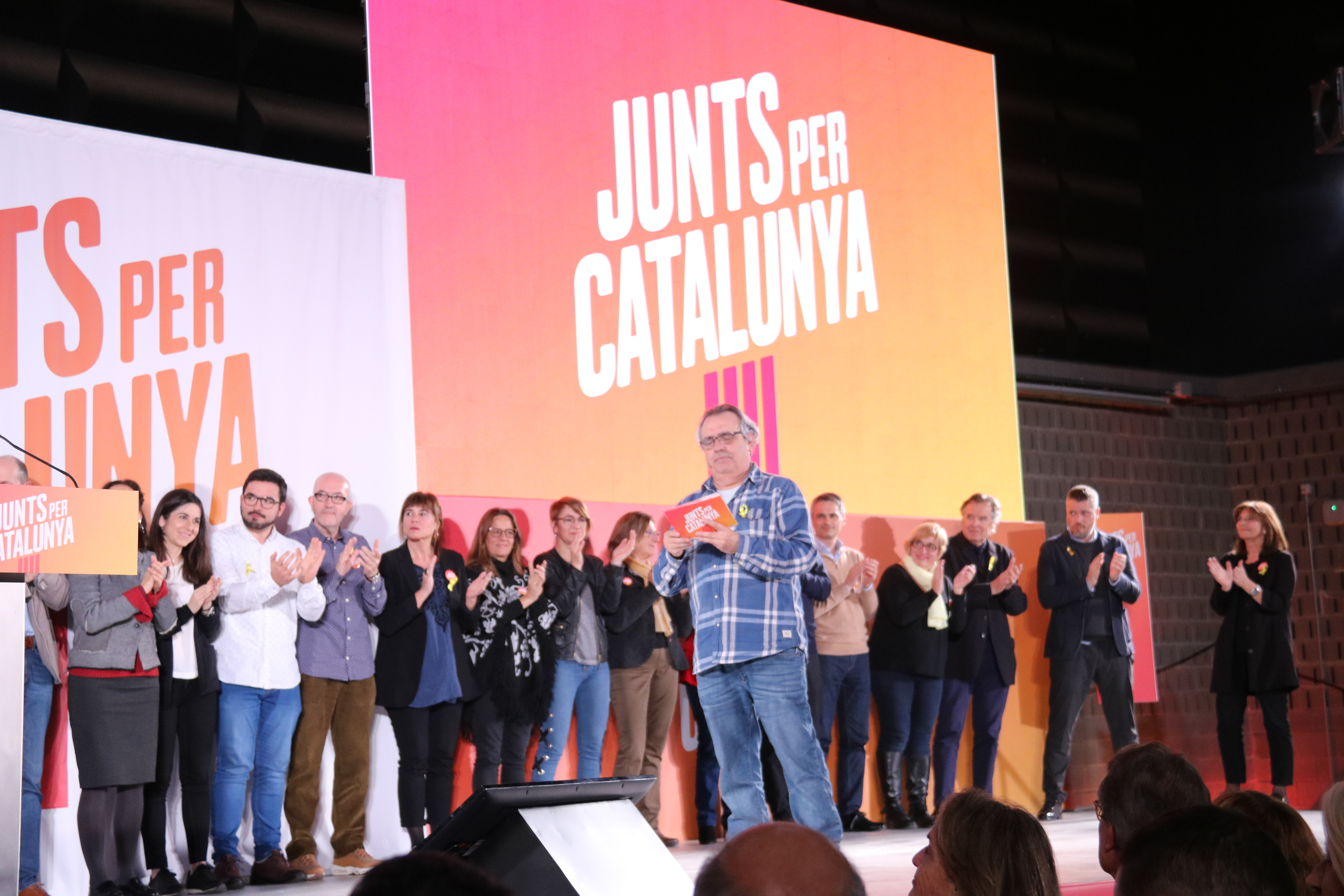Together for Catalonia event on Monday evening (by Bernat Vilaró)