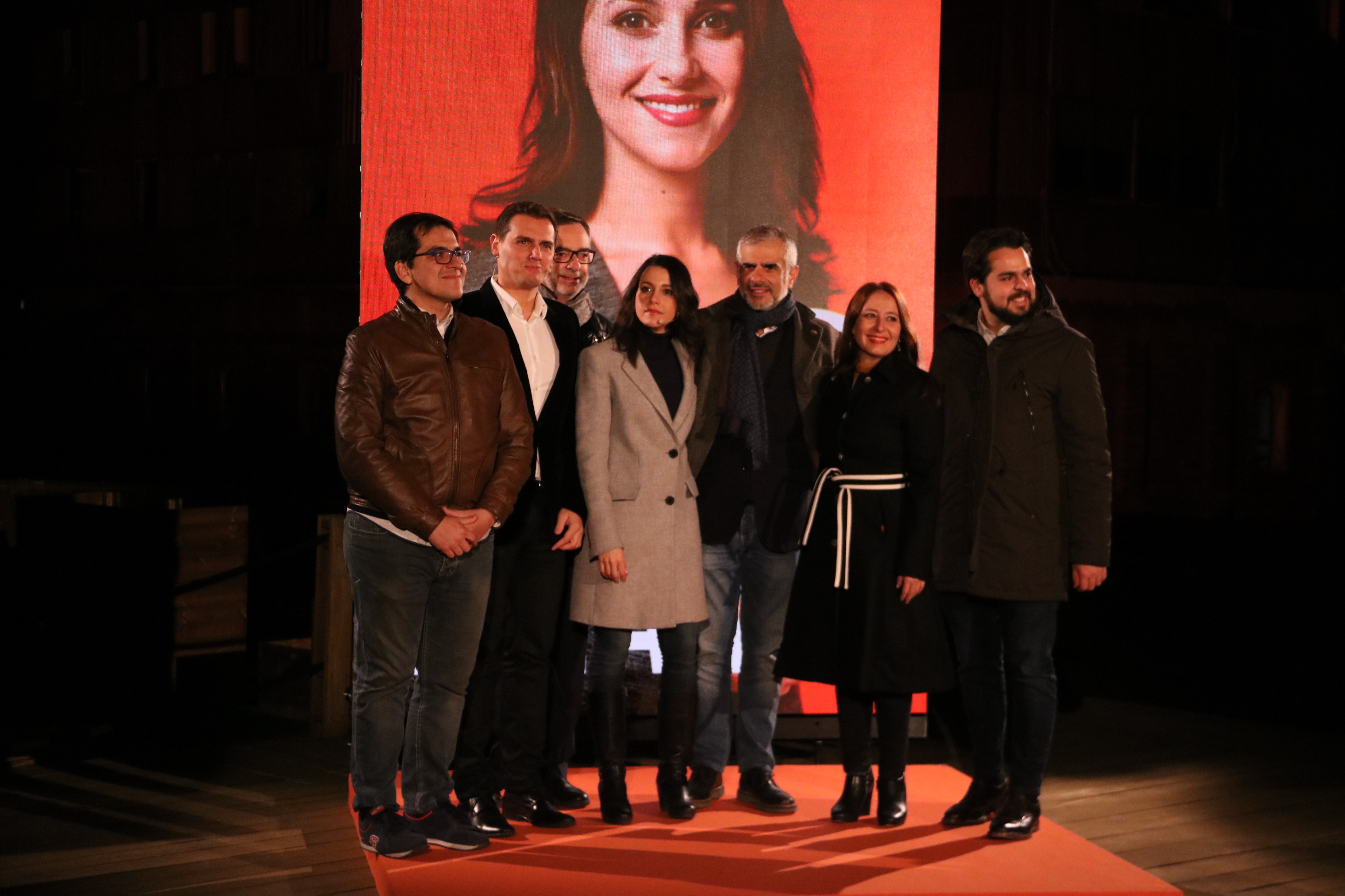 The C's party members, led by party candidate, Inés Arrimadas