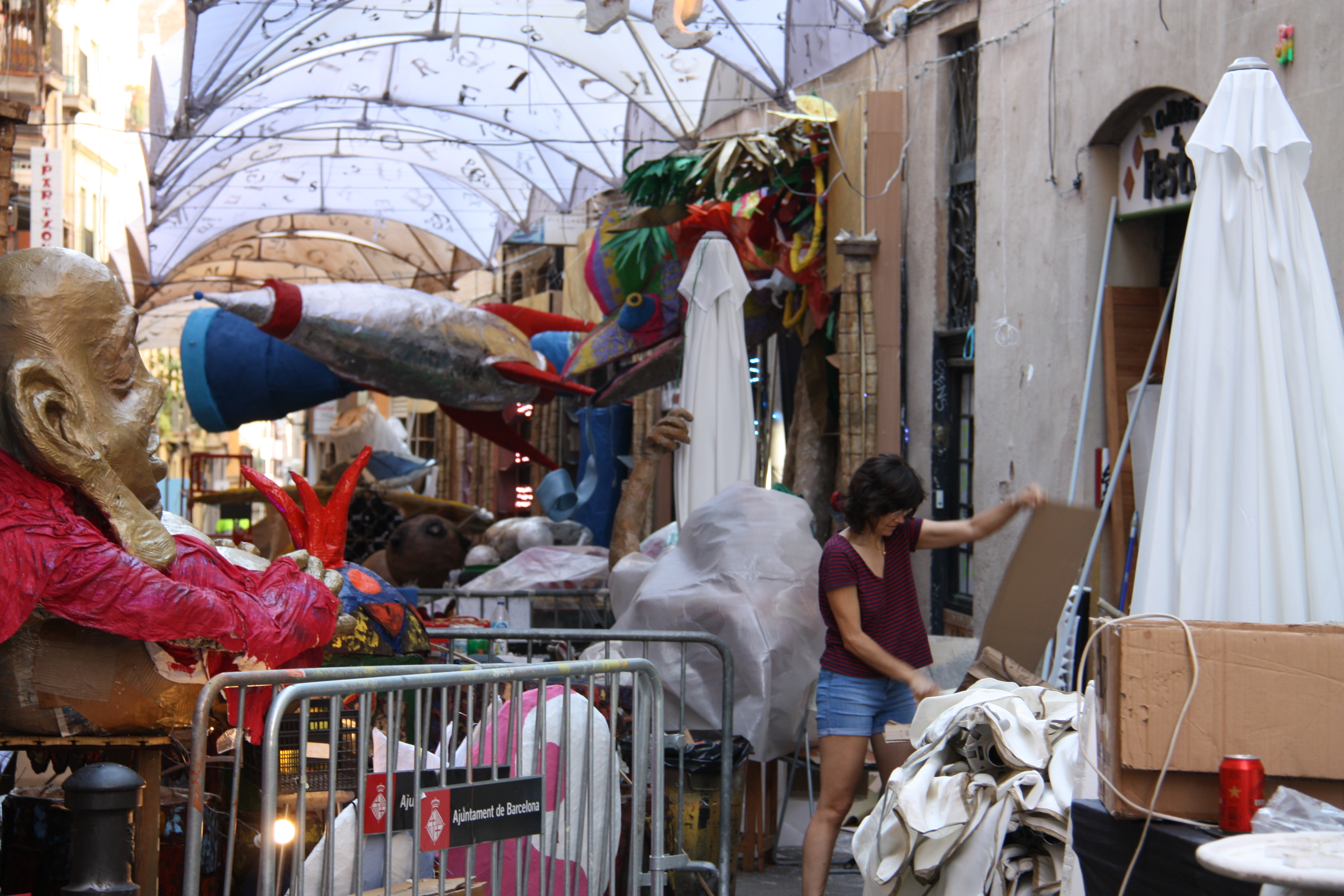Preparations for the Gràcia festival have been underway for weeks (Ariana Coma)