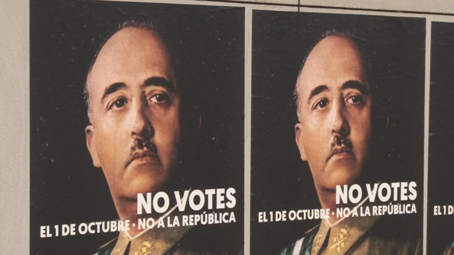 Franco posters in different Catalan cities